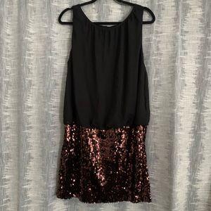 Adriana Papell mini Black sequin dress